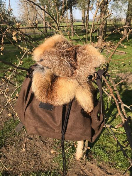 Loden-Jagdrucksack mit Fuchsbesatz